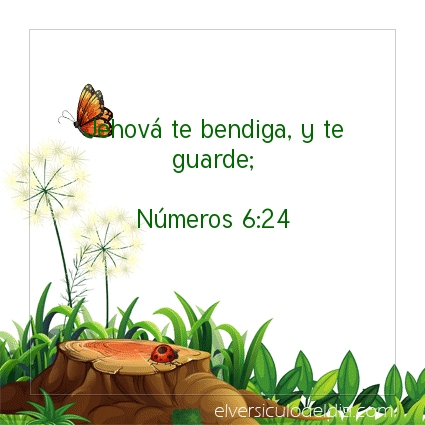 Imagen El versiculo del dia Números 6:24