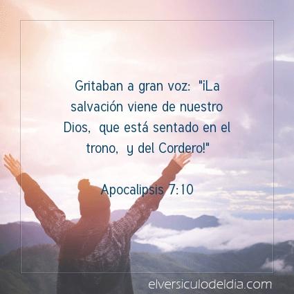 Imagen El versiculo del dia Apocalipsis 7:10