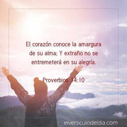 Imagen El versiculo del dia Proverbios 14:10