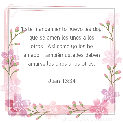 Imagen El versiculo del dia Juan 13:34