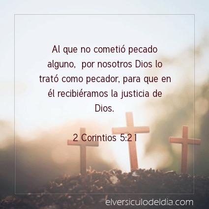 Imagen El versiculo del dia 2 Corintios 5:21