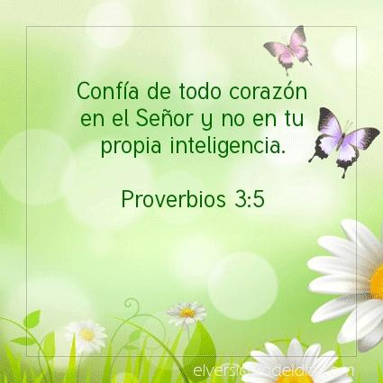 Imagen El versiculo del dia Proverbios 3:5
