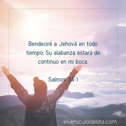 Imagen El versiculo del dia Salmos 34:1