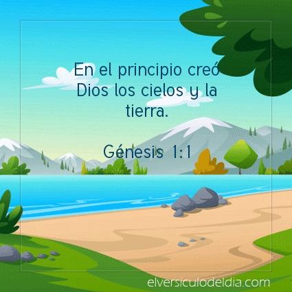 Imagen El versiculo del dia Génesis 1:1