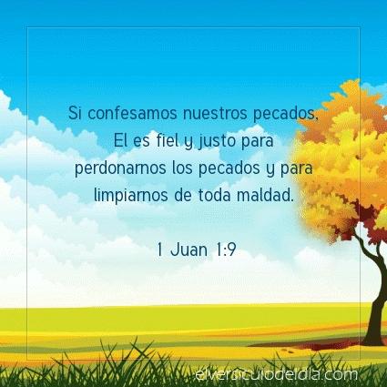 Imagen El versiculo del dia 1 Juan 1:9