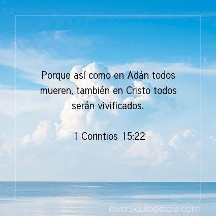 Imagen El versiculo del dia 1 Corintios 15:22