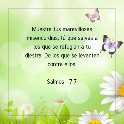 Imagen El versiculo del dia Salmos 17:7