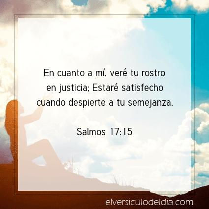 Imagen El versiculo del dia Salmos 17:15