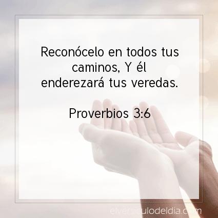 Imagen El versiculo del dia Proverbios 3:6