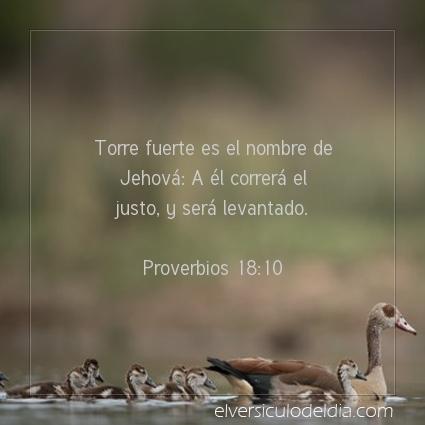 Imagen El versiculo del dia Proverbios 18:10