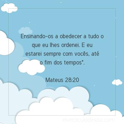 Imagem Verso do dia Mateus 28:20