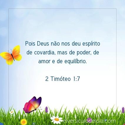 Imagem Verso do dia 2 Timóteo 1:7