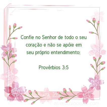 Imagem Verso do dia Provérbios 3:5