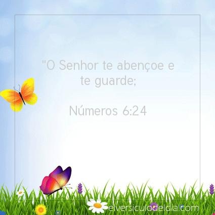 Imagem Verso do dia Números 6:24
