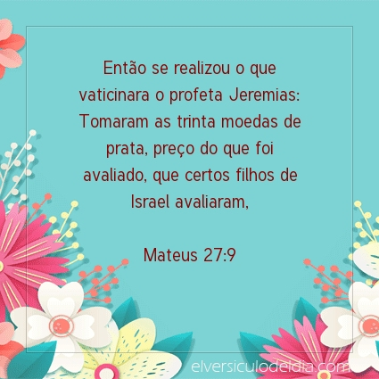 Imagem Verso do dia Mateus 27:9