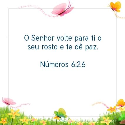 Imagem Verso do dia Números 6:26