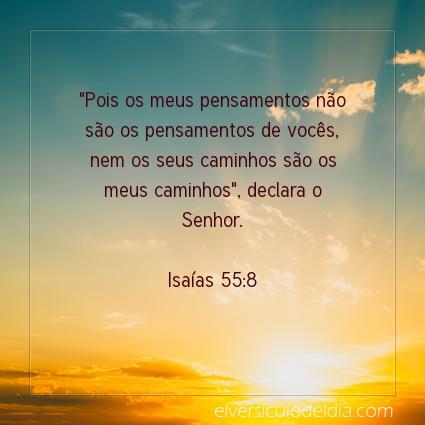 Imagem Verso do dia Isaías 55:8